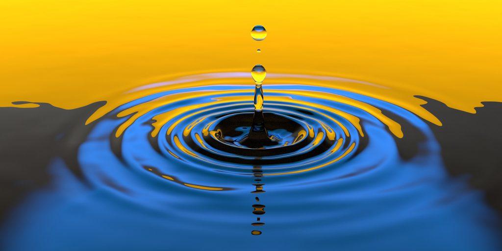 水滴のクリーンなイメージ
